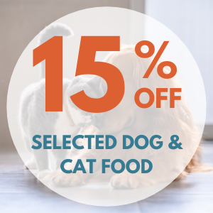 15% off Selected Dog Food