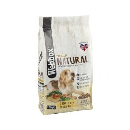 Webbox Natural Chicken & Brown Rice Adult Dry Dog Food 2.25kg