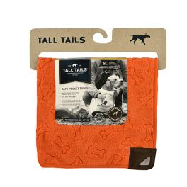 Tall Tails Orange Pet Cape Dog Towel (2 sizes Available)