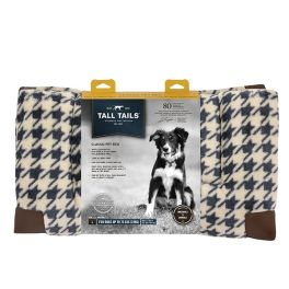 Tall Tails Fleece Top Houndstooth Classic Pet Bed