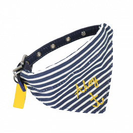 Joules Nautical Dog Collar and Neckerchief