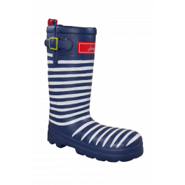 Joules Stripey Rubber Welly Dog Toy