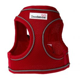 Doodlebone Red Airmesh Snappy Dog Harness