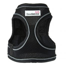 Doodlebone Black Airmesh Snappy Dog Harness