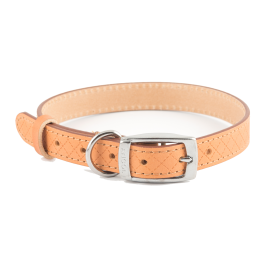 Ancol Heritage Leather Sewn Dog Collar Tan
