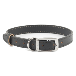 Ancol Heritage Leather Sewn Dog Collar Black