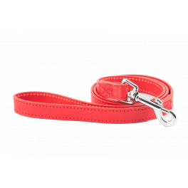 Ancol Heritage Leather Dog Lead Red