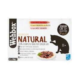 Webbox Premium Natural Senior 11+ Cat Food  in Jelly 12x100g