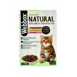 Webbox Premium Natural Kitten Food Fish and Meat Selection in Jelly 12x100g