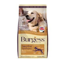 Burgess Sensitive Turkey & Rice Adult Dog Food