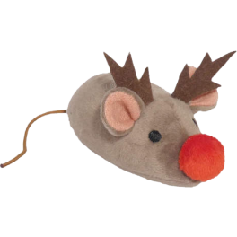Grumpy Cat Christmas Reindeer Mouse Cat Toy