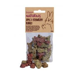 Rosewood Naturals Apple & Strawberry Bunnies Small Animal Treats 100g