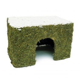 Rosewood Naturals Christmas Medium Wintery Small Animal Hay Cottage