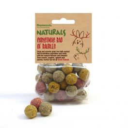 Rosewood Christmas Bag of Baubles Small Animal Treats
