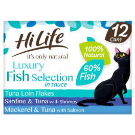 Hi Life Fish Selection in Sauce Cat Food 12 Pack