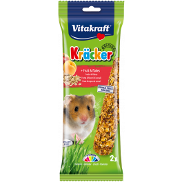 Vitakraft Hamster Treat Kracker Sticks Fruit & Flakes 112g