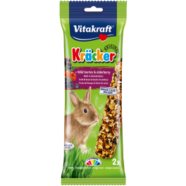 Vitakraft Rabbit Treat Kracker Sticks with Wild Berries & Elderberry 112g