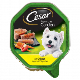 Cesar Adult Dog Food From the Garden with Chicken & Vegetables 150g