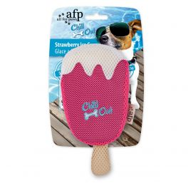 All For Paws Chill Out Strawberry Ice Cream Dog Toy