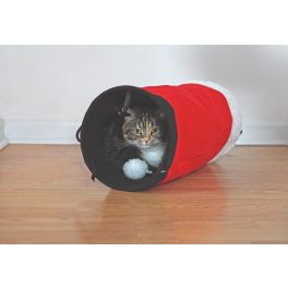 Rosewood Christmas Santa's Trousers Tunnel Cat Toy