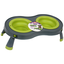 Dexas Double Elevated Dog Feeder
