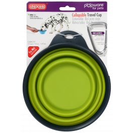 Dexas Collapsible Dog Travel Cup (With Carabiner)