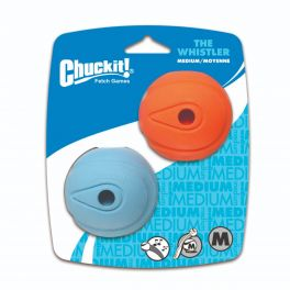 Chuckit The Whistler Balls 2 Pack Dog Toy