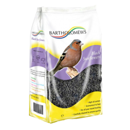 Bartholomews Black Sunflower Seeds Wild Bird Food