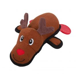 Rosewood Christmas Multi-Textured Reindeer Canvas Dog Toy