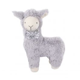 Rosewood Christmas Grey Plush Llama Dog Toy