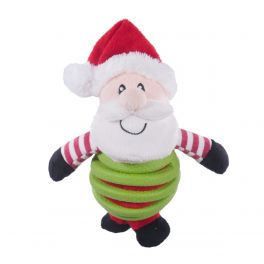 Rosewood Christmas Festive Rubber Belly Santa Dog Toy