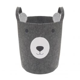 Rosewood Wolf and Tiger Felt Bear Pet Toy Basket