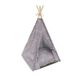 Rosewood Wolf and Tiger Antler Hygge Pet TeePee