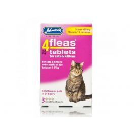 Johnson's 4fleas Cat Tablets 3 Pack