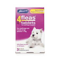 Johnson's 4fleas Small Dogs & Puppies Flea Tablets 3 Pack