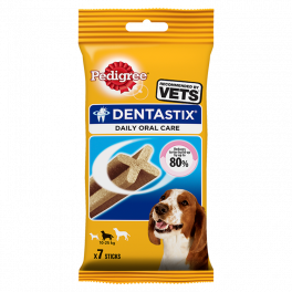 Pedigree Dentastix 7 Sticks for Medium Dogs (10-25kg) Dog Treats
