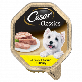 Cesar Adult Dog Food Classics with Chicken & Turkey 150g