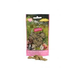 Rosewood Simply Nibbles Herb & Apple Cushions Small Animal Treats 50g