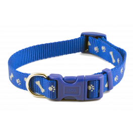 Ancol Paw'n'Bone Adjustable Reflective Dog Collar