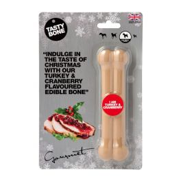 Tasty Bone Christmas Turkey & Cranberry Flavoured Dog Toy for Small Dogs
