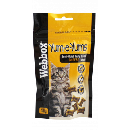 Webbox Yum-e-Yums Cat Treats with Cheese 40g
