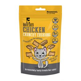 Rosewood Daily Eats Crunchy Chicken Cushions Cat Treats 60g