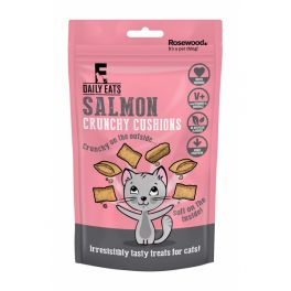 Rosewood Daily Eats Crunchy Salmon Cushions Cat Treats 60g