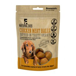 Rosewood Natural Eats Chicken Meatballs in Gravy Dog Treat 100g
