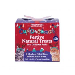 Rosewood Christmas Festive Natural Cat Treat Gift Box 100g