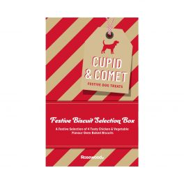 Rosewood Christmas Cupid & Comet Festive Dog Treats Biscuit Selection Box 350g