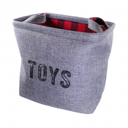 Rosewood Winter Buffalo Check Pet Toy Basket