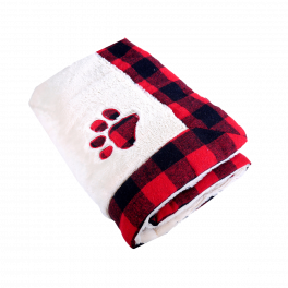 Rosewood Winter Red Buffalo Check Pet Blanket