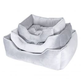 Rosewood Christmas Luxury Silver Velvet Dog Bed