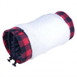 Rosewood Winter Red Buffalo Check Cat Tunnel Cat Toy